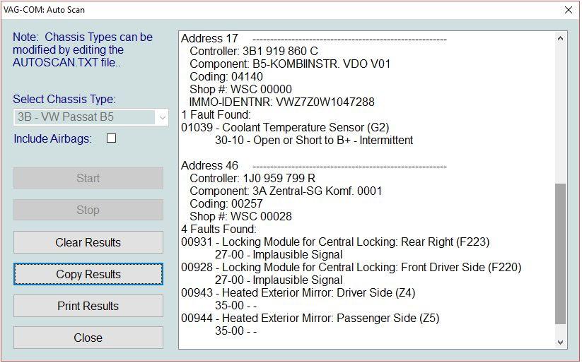 Чтение ошибок с VAG COM на пассате B5 — Volkswagen Passat