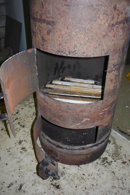 Печь для бани из газовых баллонов