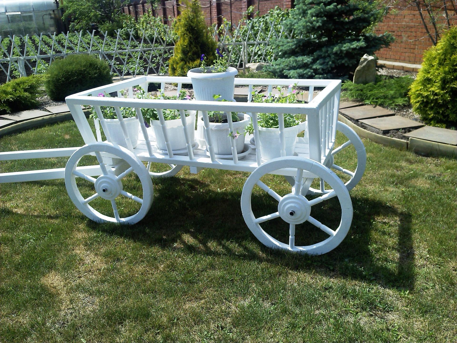 Как сделать своими руками декоративную телегу для сада своими руками 40