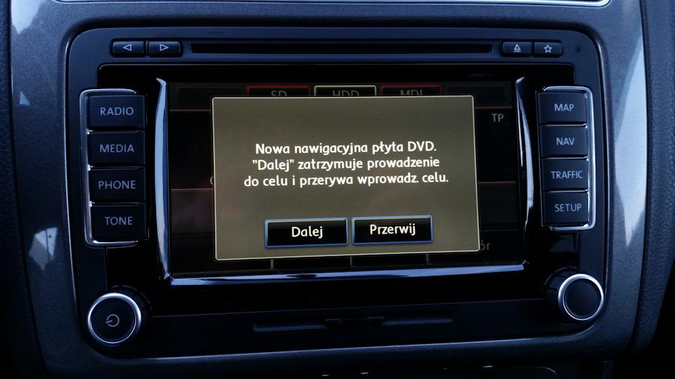 RNS 510 Map Update — EU West V13 — logbook Volkswagen Polo