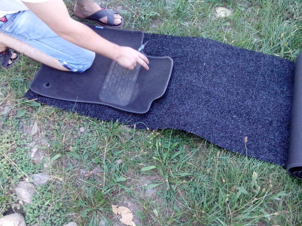 Как сделать автомобильные коврики своими руками 55