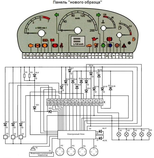 1ecdf1es 960 - Щиток приборов ваз 21124 европанель обозначения