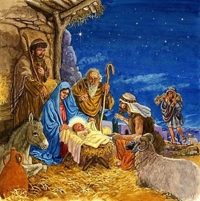 Открытка как, картинки христос родился
