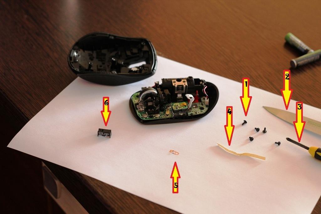 Как сделать мышку чтобы не щелкала
