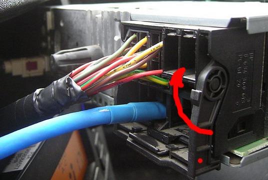 Выводим кабель куда нужно.