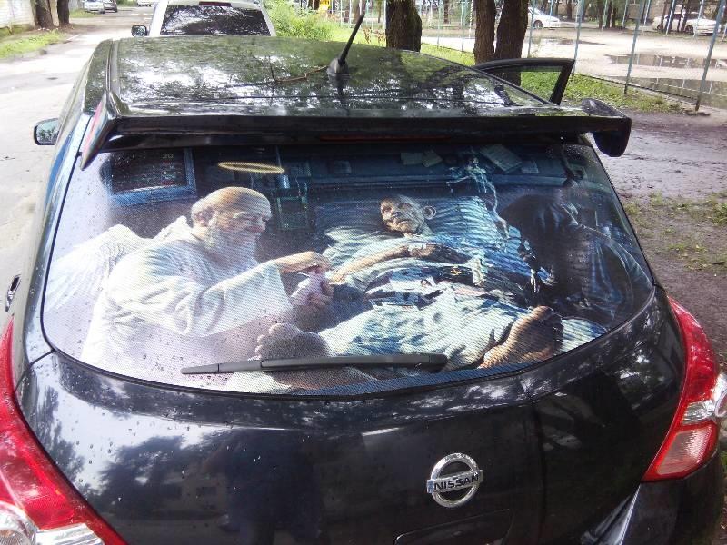 наклейки на заднее стекло авто фото