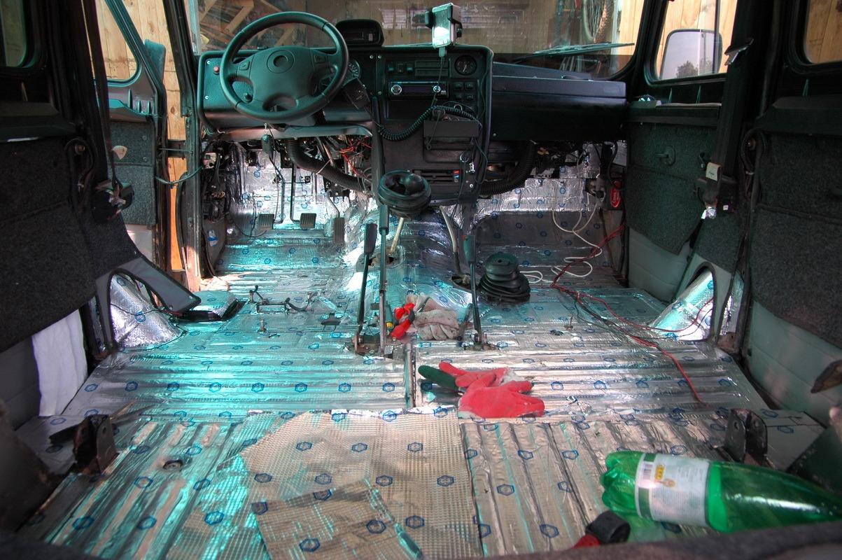 Как сделать шумоизоляцию в машине уаз