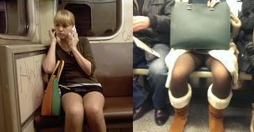 Девушка в джинсах с раздвинутыми ногами