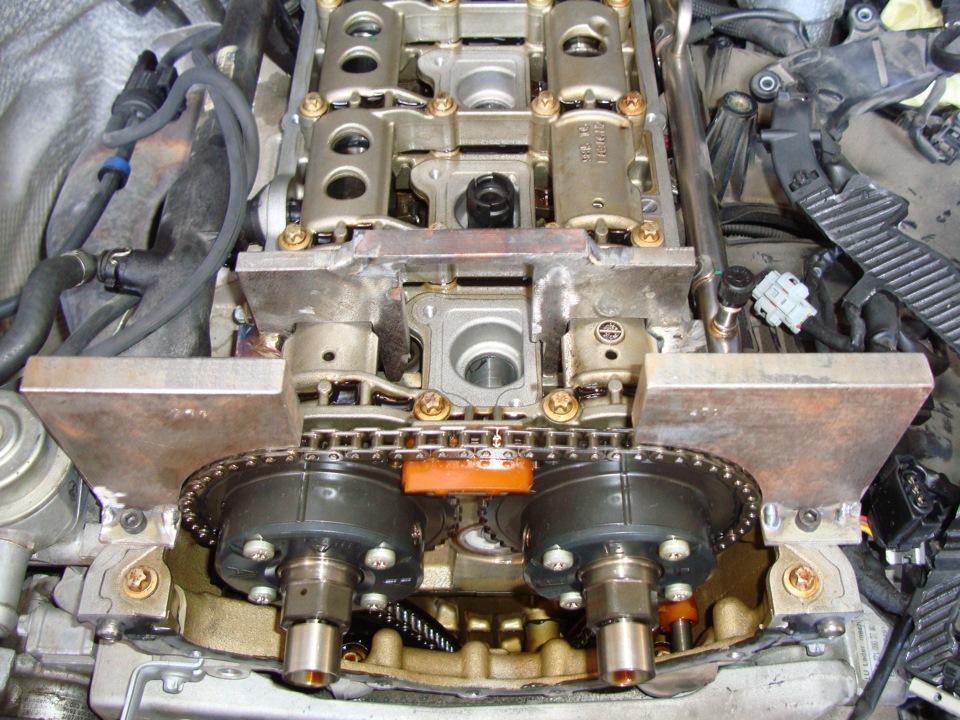 Замена цепи грм на мерседесе мотор 271 своими руками