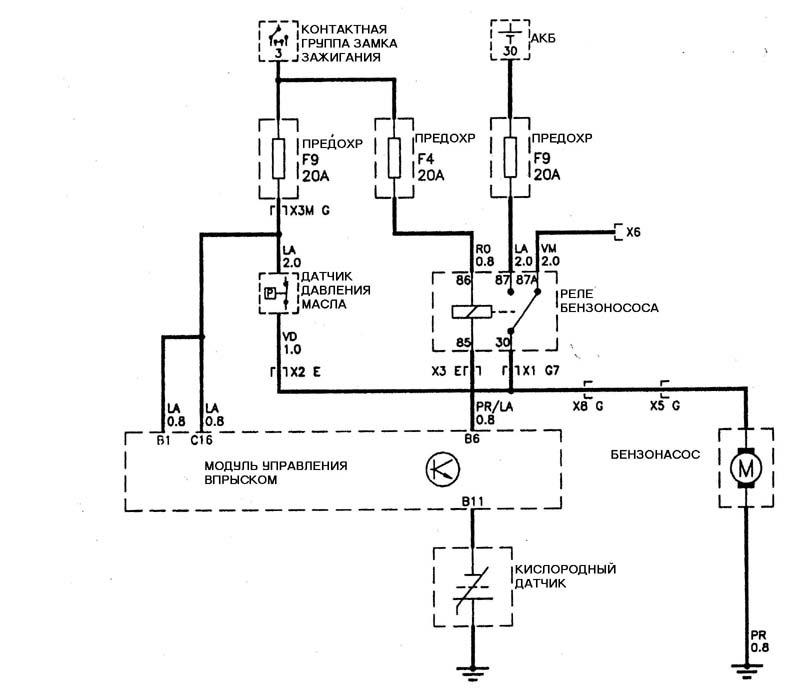Схема подключения электробензонасоса на ниву шевроле
