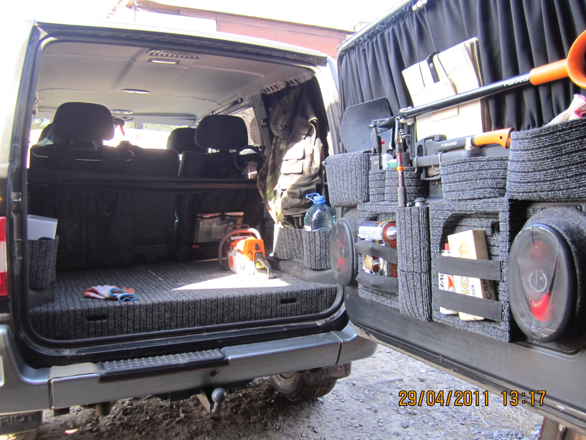 Фото багажника уаз патриот