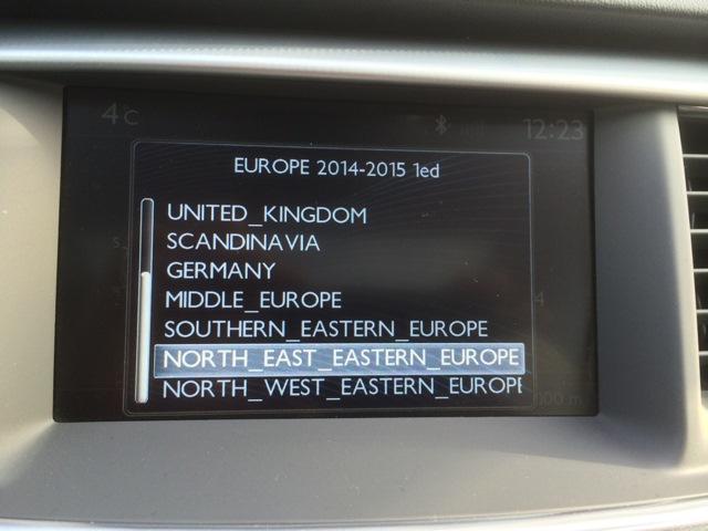 карты европы для peugeot,