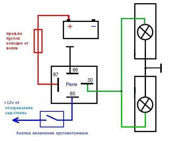 3 Подключение ПТФ (туманки)