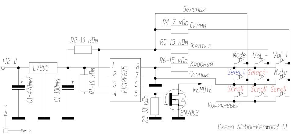 Схема kenwood kmm-120y