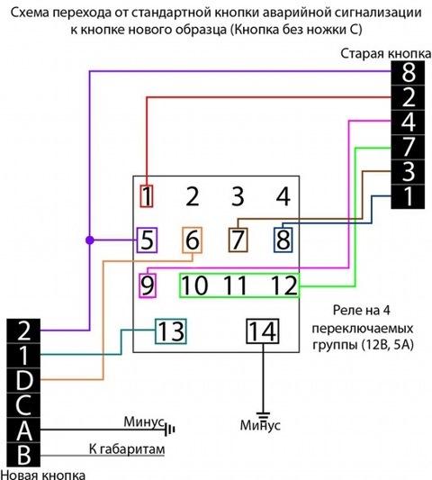 Схема подключения аварийки