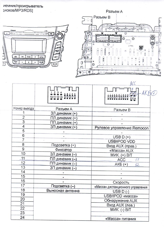 Автомагнитолы hyundai схема подключения фото 741