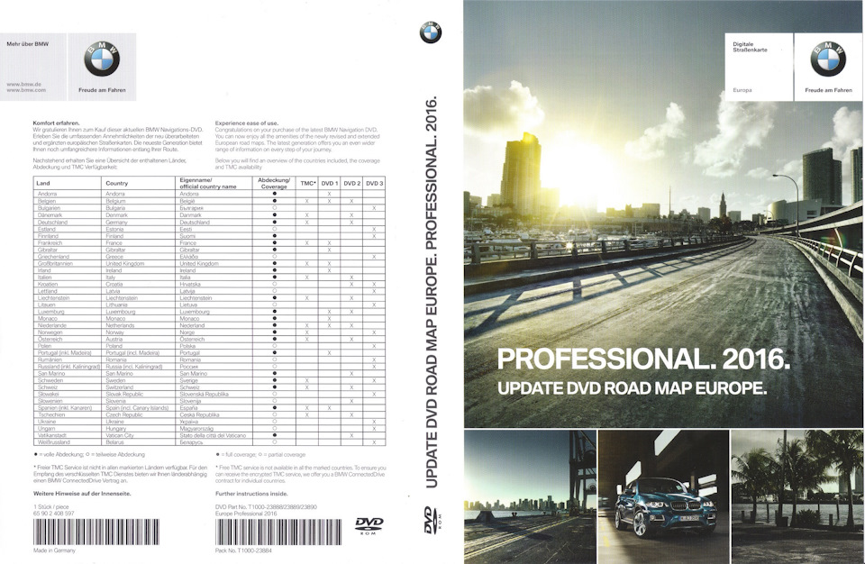 bmw road map europe professional BMW Update DVD Road MAP Europe 2016 Professional CCC — BMW 5