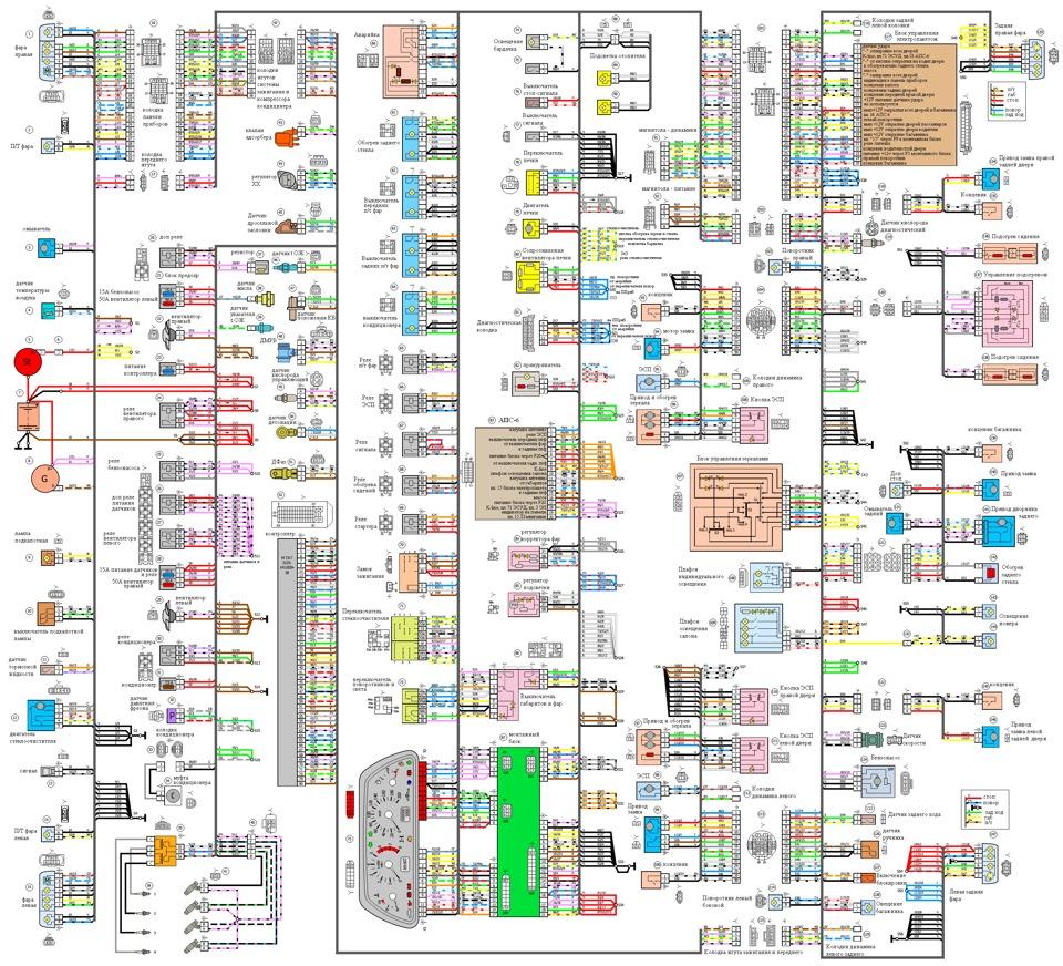 Схема электропроводки нива шевроле фото 94