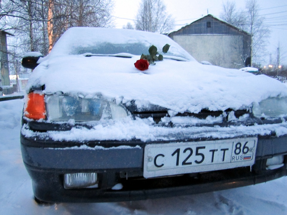 Романтик на капоте