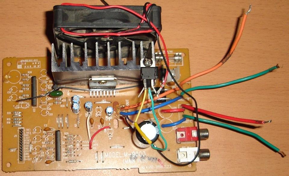 Tda7375 схема включения
