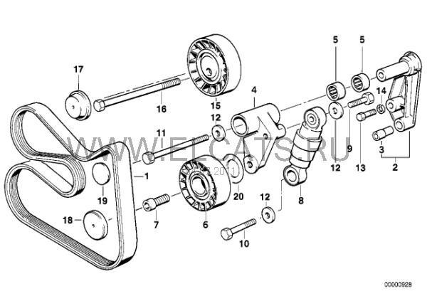 Схема ручейкового ремня