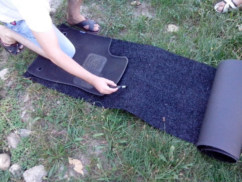 Как сделать автомобильные коврики своими руками 79