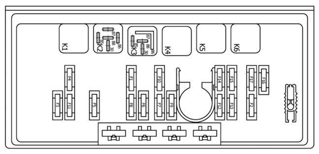 Схема монтажного блока 2105