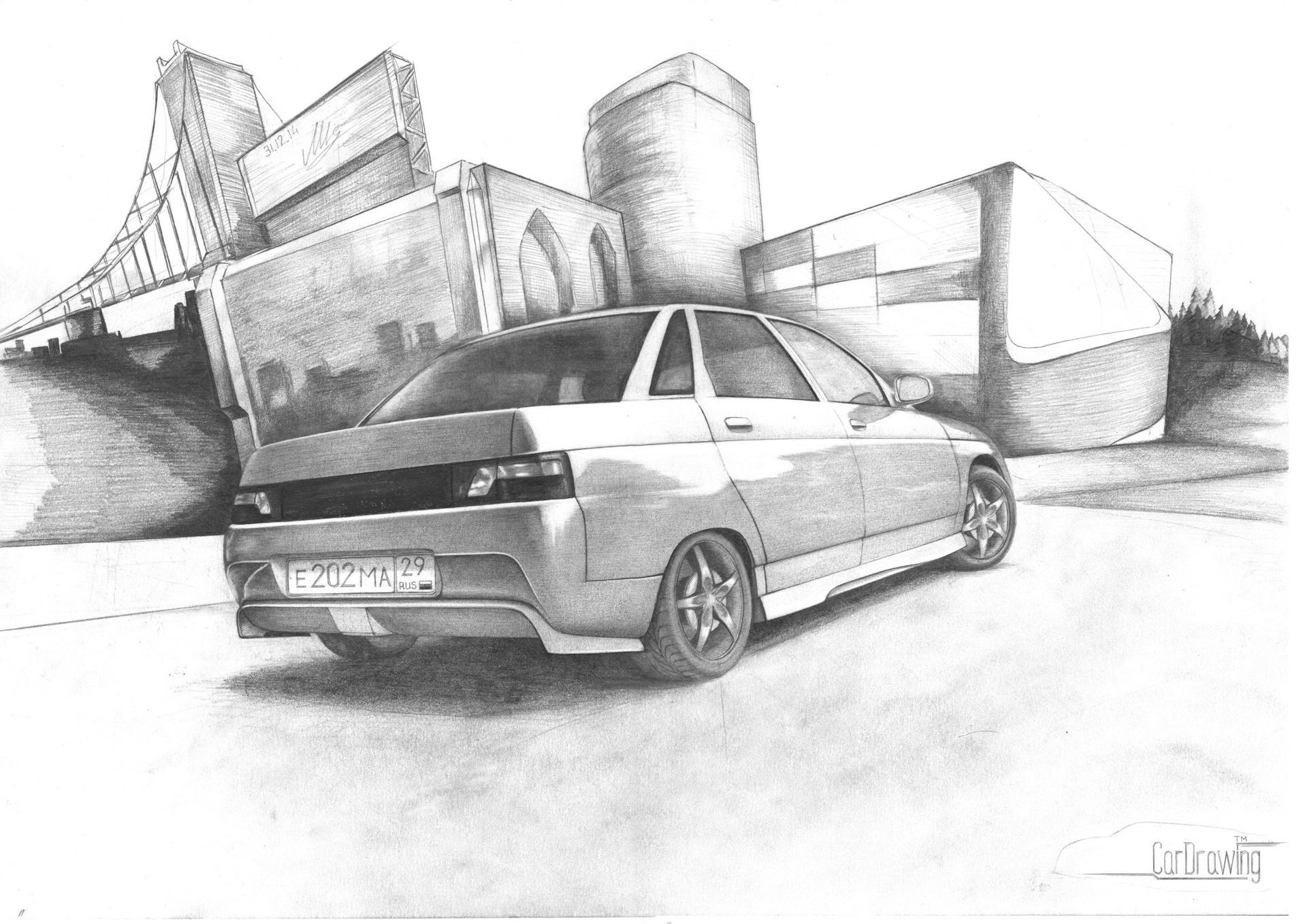 Романтическая любовь, картинки русские машины бпан карандашом двенашка