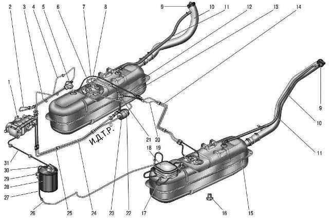 Схема топливной системы для