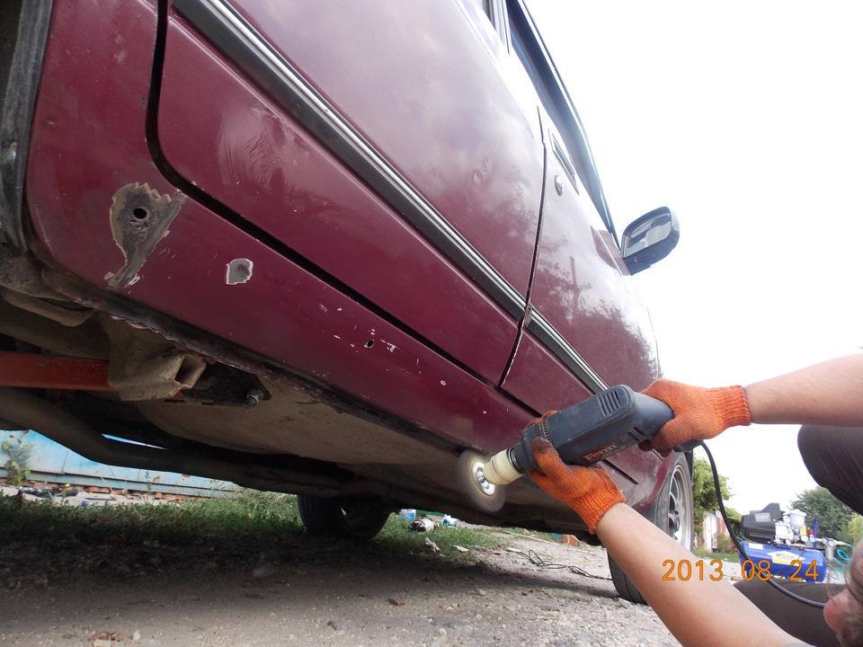 Как покрасить порог автомобиля