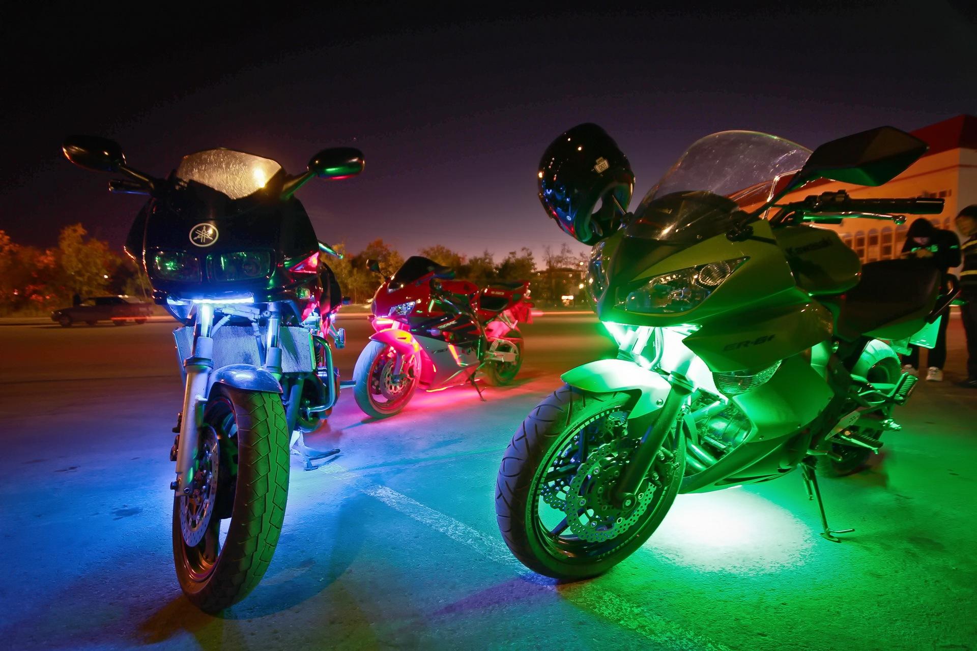 подборку картинки мотоцикл и ночь красивейший