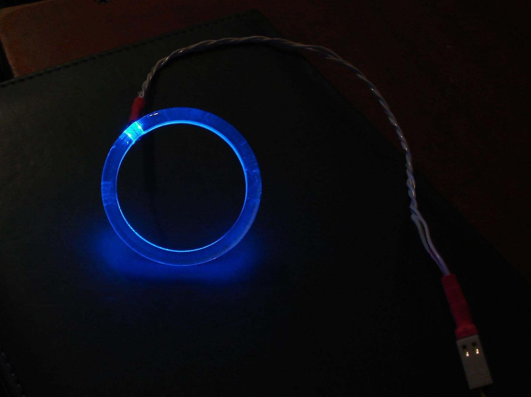 Подсветка замка зажигания своими руками видео