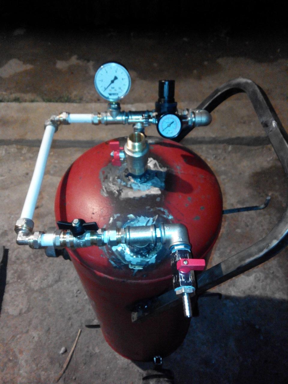 Пеногенератор из газового баллона для автомойки своими руками