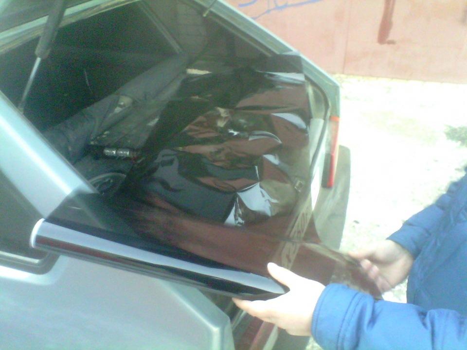 Тонируем лобовое стекло своими руками 42