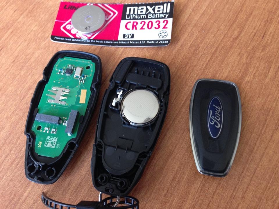 Замена батарейки на форд 3