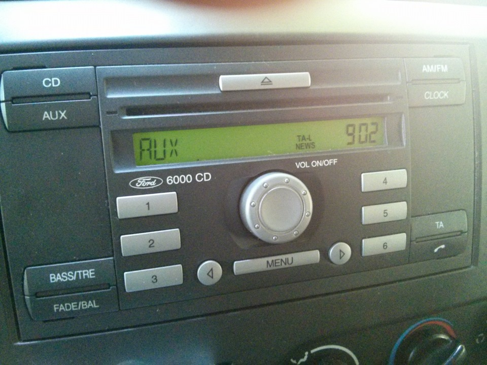 Форд инструкция магнитола 6000cd