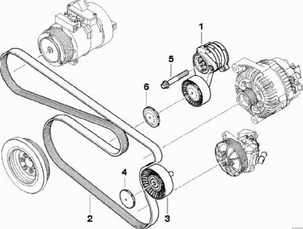инструкция по замене роликов поликлинового ремня на bmw m60