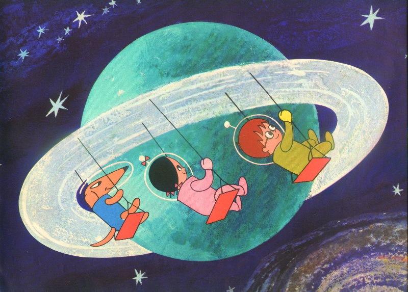 Путешествие по космосу рисунок