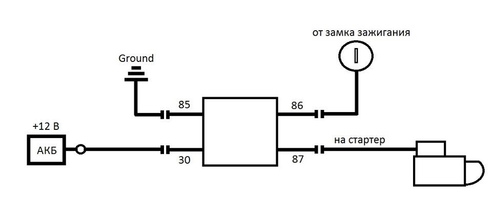 Схема подключения доп реле стартера фото 393
