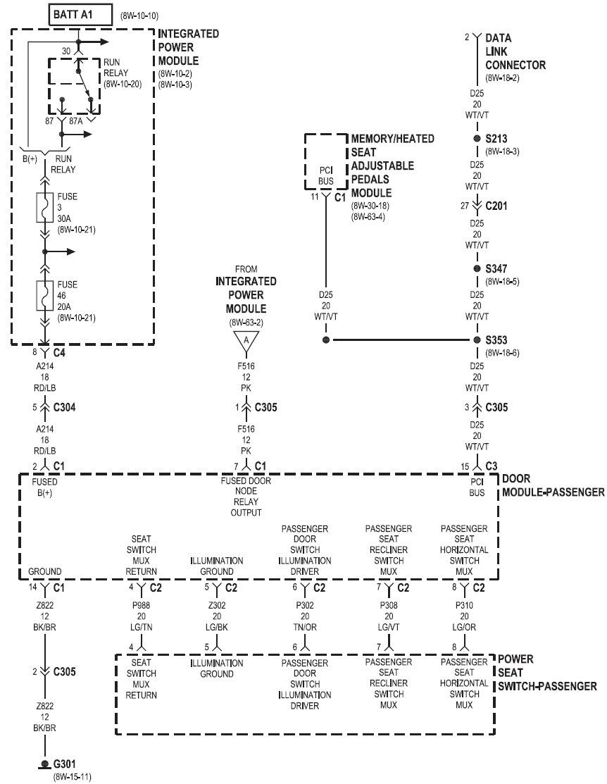схема блока управления крайслер
