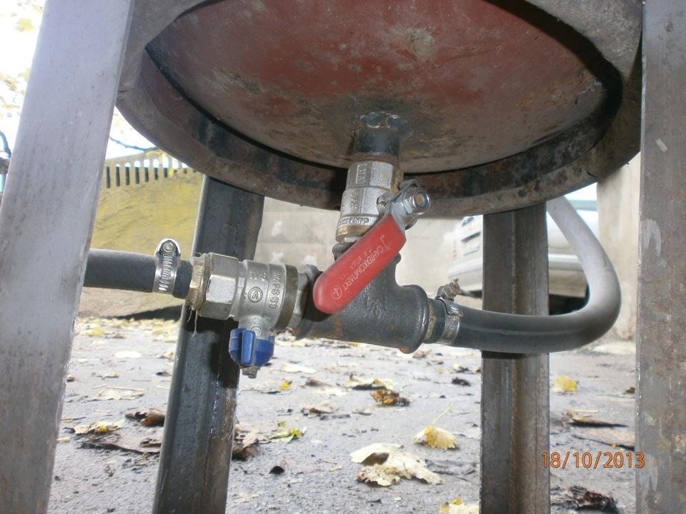 Пескоструйный аппарат из газового баллона своими руками
