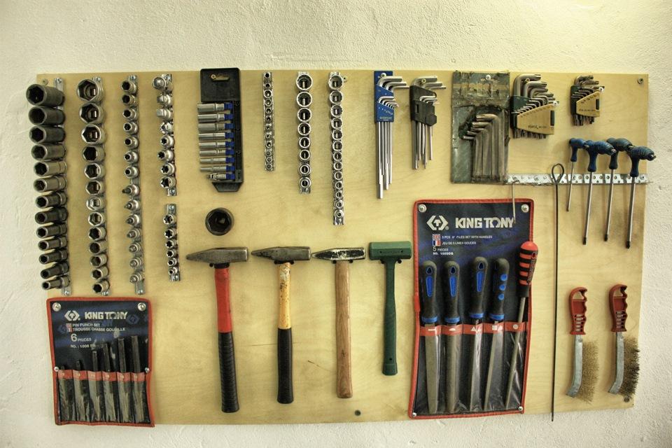 Как сделать стен для инструментов 201