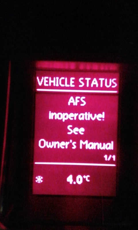 Vw Afs Inoperative