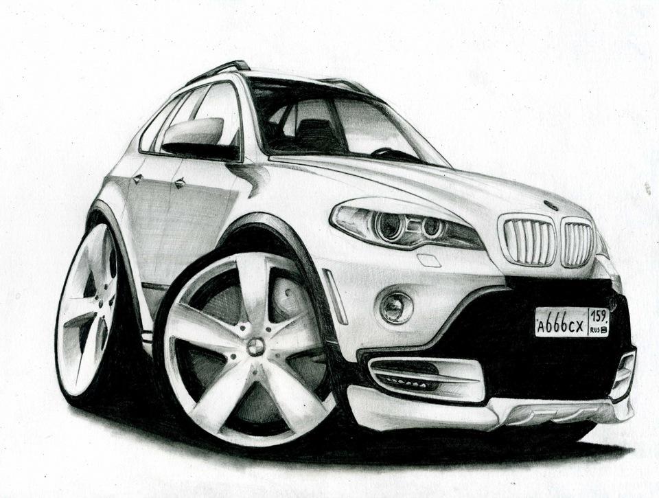 Картинки про, прикольные автомобили рисунки