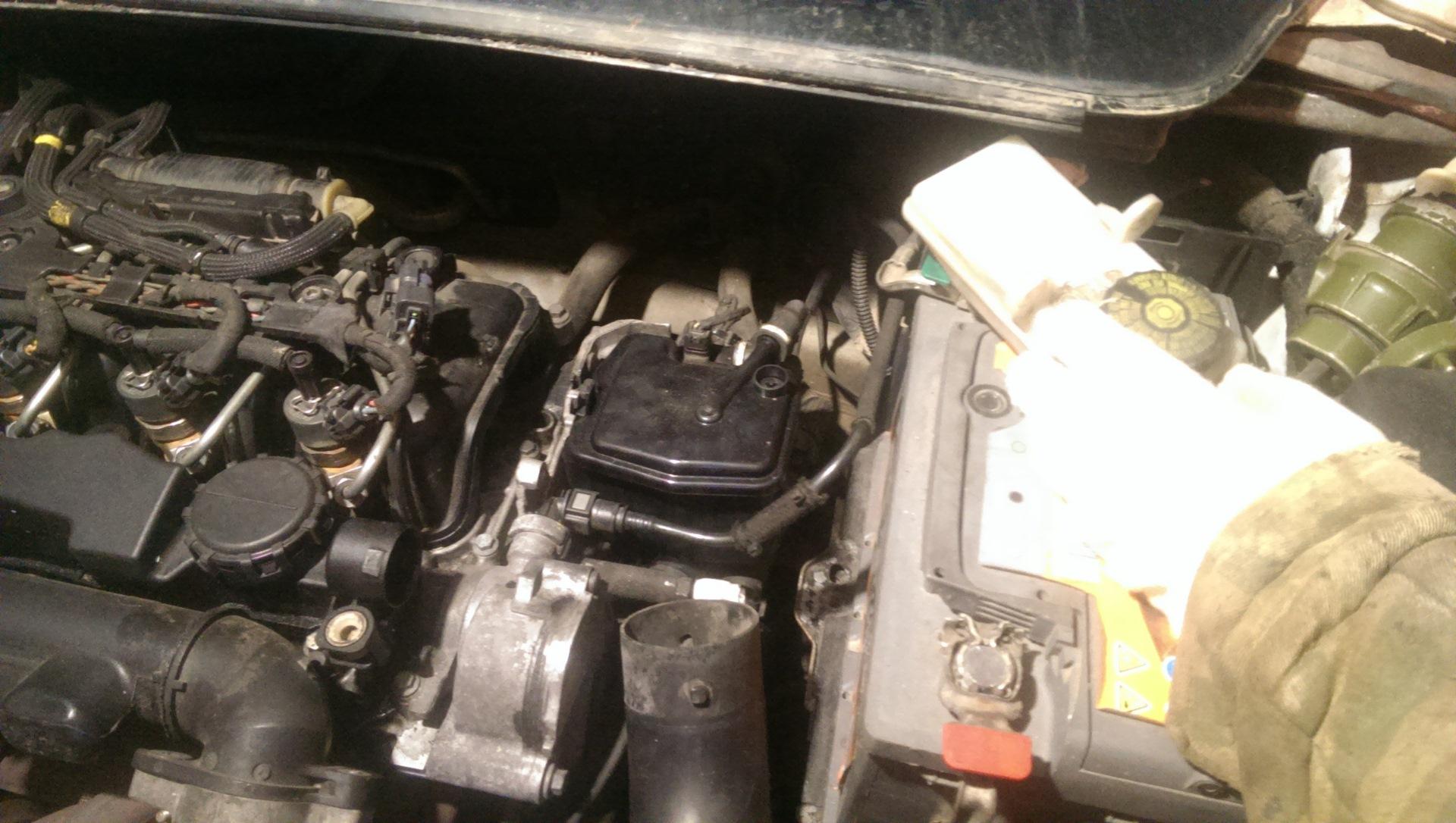 Снятие и чистка ЕГР бортжурнал Peugeot 307 1 6 Hdi 2005