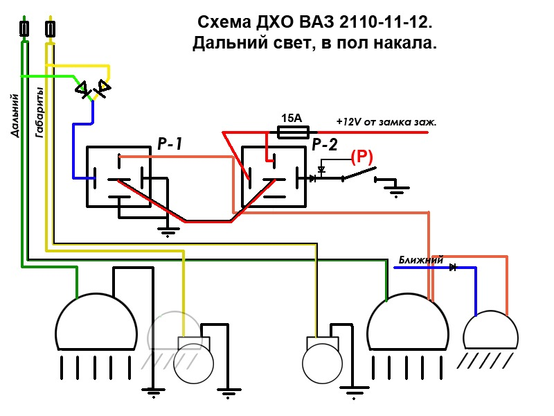 Фото №33 - схема подключения дхо на ВАЗ 2110