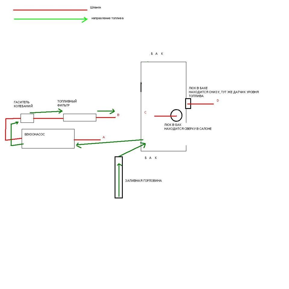 схема подключения бензонасоса опель аскона