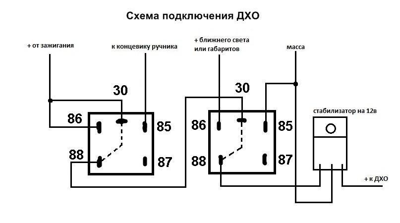 Фото №17 - схема подключения дхо на ВАЗ 2110