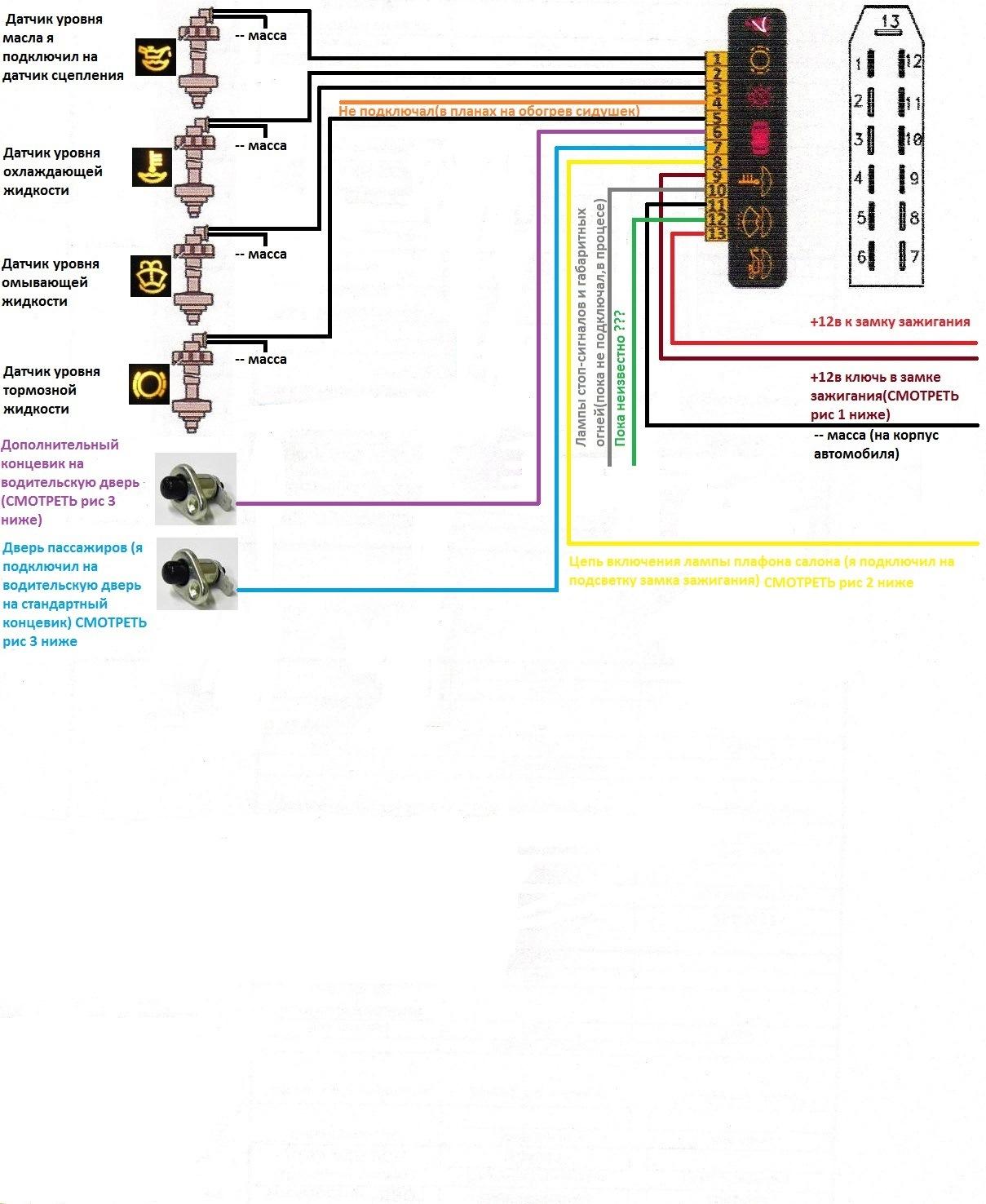 Блок бортовой системы контроля схема фото 864