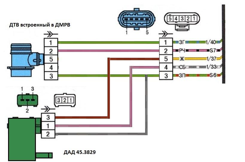 Схема жгута для датчиков ДАД и